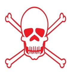 Skull2 resize vector image