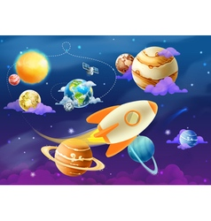 Solar system of planets vector image