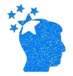 Stars Hit Head Grainy Texture Icon vector