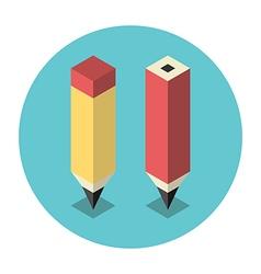 Stylized isometric pencils vector image