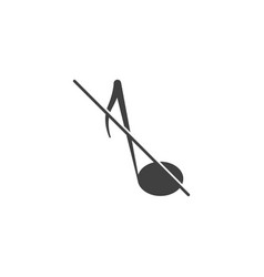 the silent mode icon image on white vector image