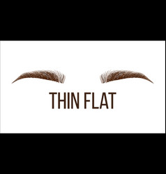 Thick flat brows shape web banner template vector