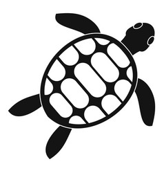 Turtle icon simple style vector