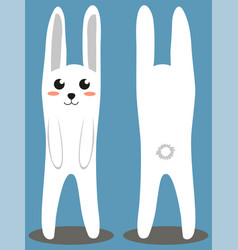 White rabbit colorful poster vector