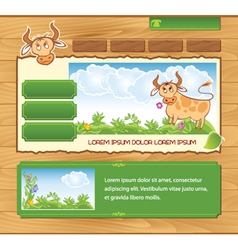 Wooden ecological template vector