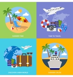 World Of Tourism Concept vector
