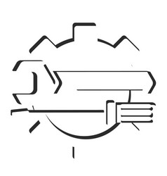 wrench and screwdriver silhouette vector image