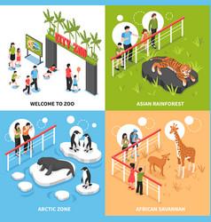 Zoo 2x2 isometric design concept vector