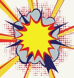 cartoon sound drawing blank humor retro expl vector image