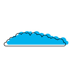 cloud icon blue watercolor silhouette vector image vector image