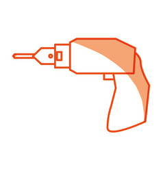 drill electric tool vector image vector image