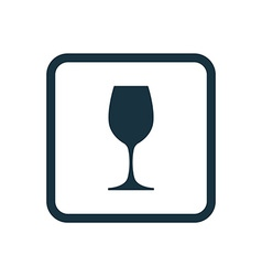 wineglass icon Rounded squares button vector image vector image