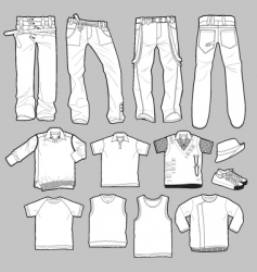 apparel templates vector image vector image