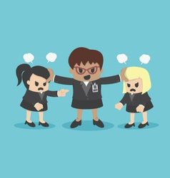 business woman conflict or arguing coworker in off vector image