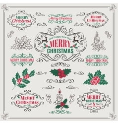 Christmas Calligraphic Design Elements vector image vector image