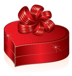Heart shaped gift box picture vector