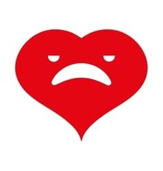Heart cartoon love vector image vector image