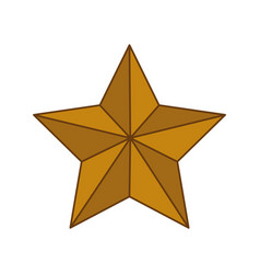 star shape decoration vector image vector image