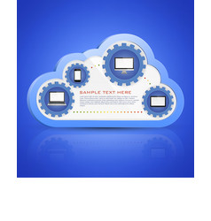 Cloud computing vector image vector image
