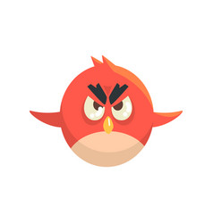 cute little funny red chick bird flying colorful vector image