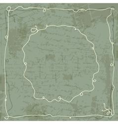Frame on grunge background for your design vector image