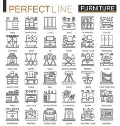 furniture outline mini concept symbols interior vector image vector image