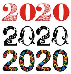 2020 text design vector