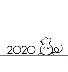 2020 year rat symbol vector image