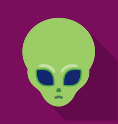 alien icon in flate style isolated on white vector image
