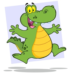Alligator Or Crocodile Jumping vector image
