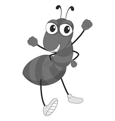 Ant with smiling face vector