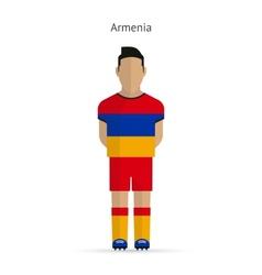 Armenia football player soccer uniform vector