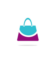 bag beauty smile fashion logo vector image