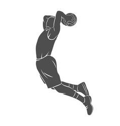Basketball player ball vector