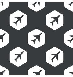 Black hexagon plane pattern vector image