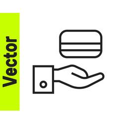 black line digital door lock with wireless vector image