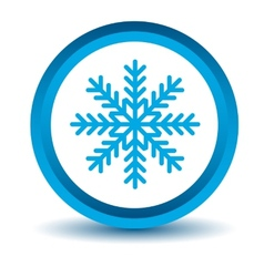 Blue snowflake icon vector