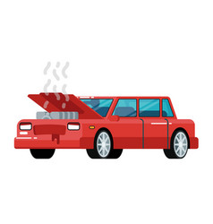 Broken car icon in flat design vector