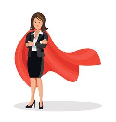 businesswoman in a red cloak vector image