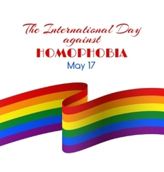Card for international day against homophobia vector
