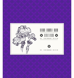 card with iris flower vector image