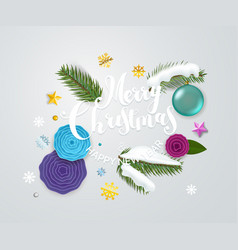 Christmas greeting card with calligraphic logo vector