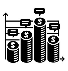 coin money chart icon simple style vector image