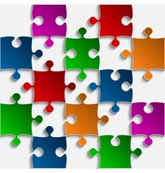 Color Puzzles Pieces - JigSaw - 25 vector image