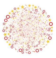 Confetti stars twirl sphere vector