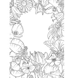 drawing background with flowers vector image