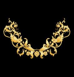 elements in baroque rococo victorian vector image