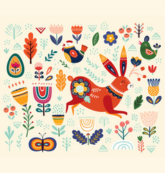 ethnic easter pattern vector image