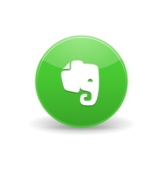 Evernote icon simple style vector