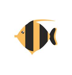Fish sea animal cartoon icon on white background vector
